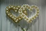 Два сердца из шаров